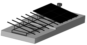 Custom made 3D platdak constructie zonnepanelen
