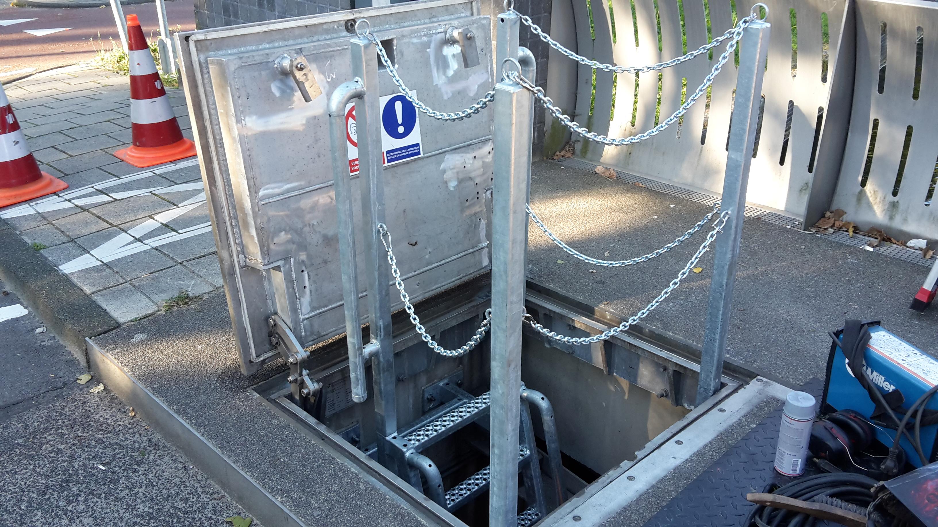 Valbeveiliging trap - luik