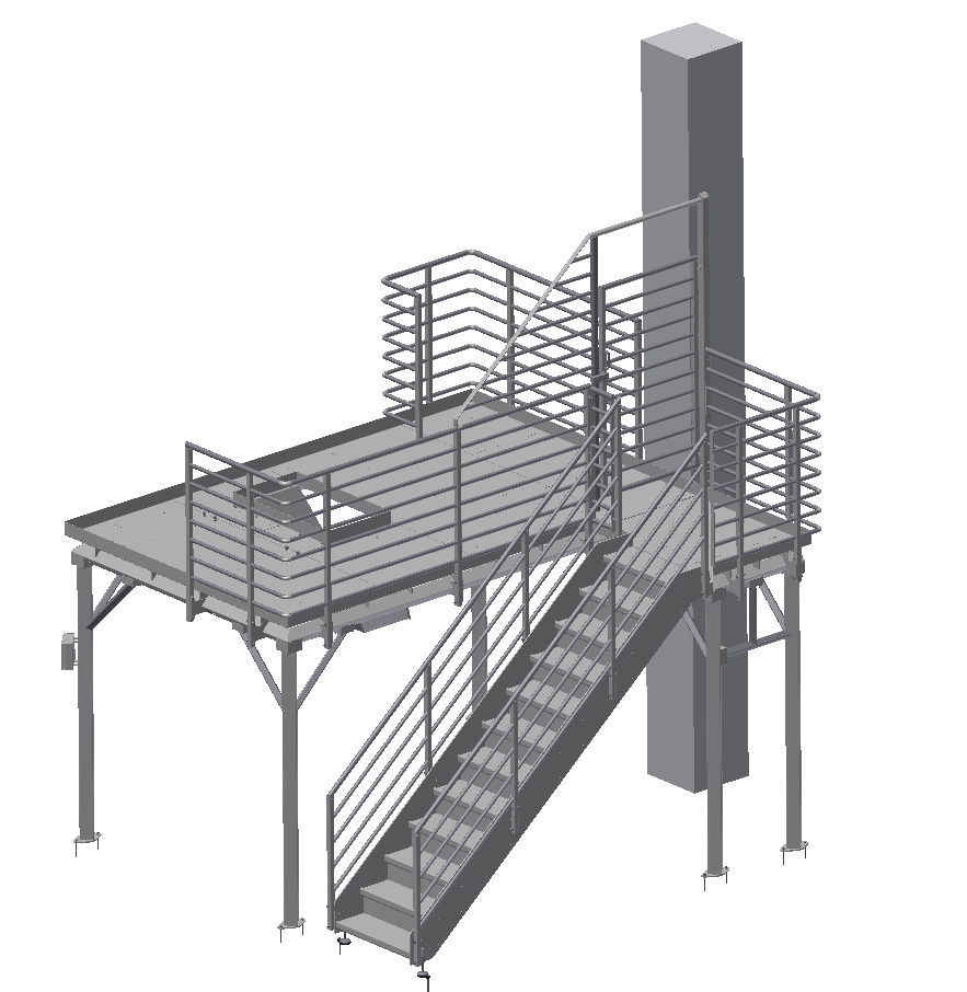 RVS bordes / platform