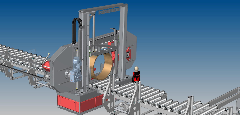 Lintzaag machine custom build rond 1420mm