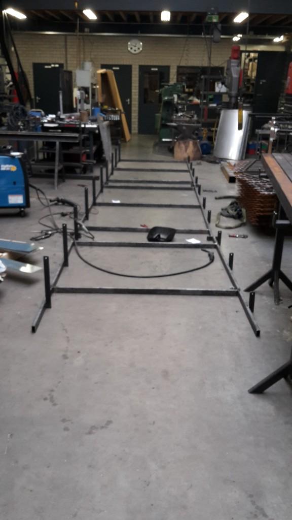 Productie proces plat dak constructie