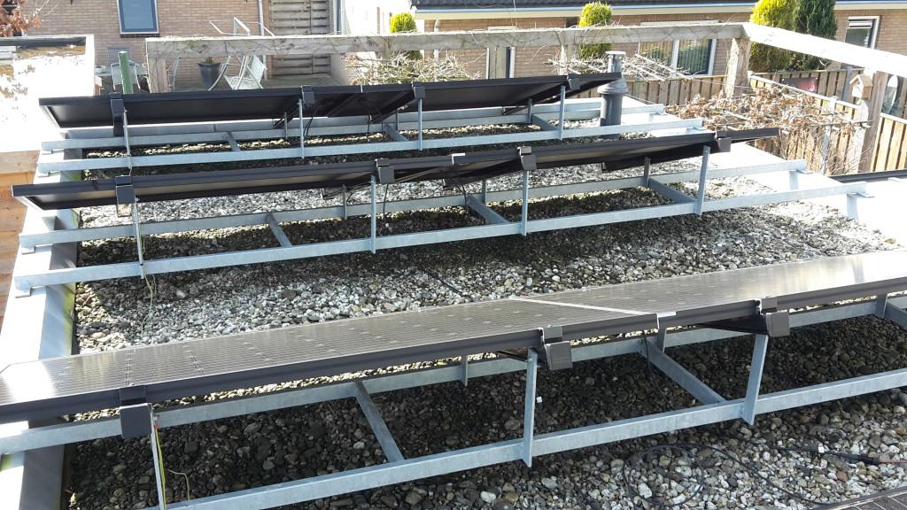 Steun constructie zonnepanelen plat dak