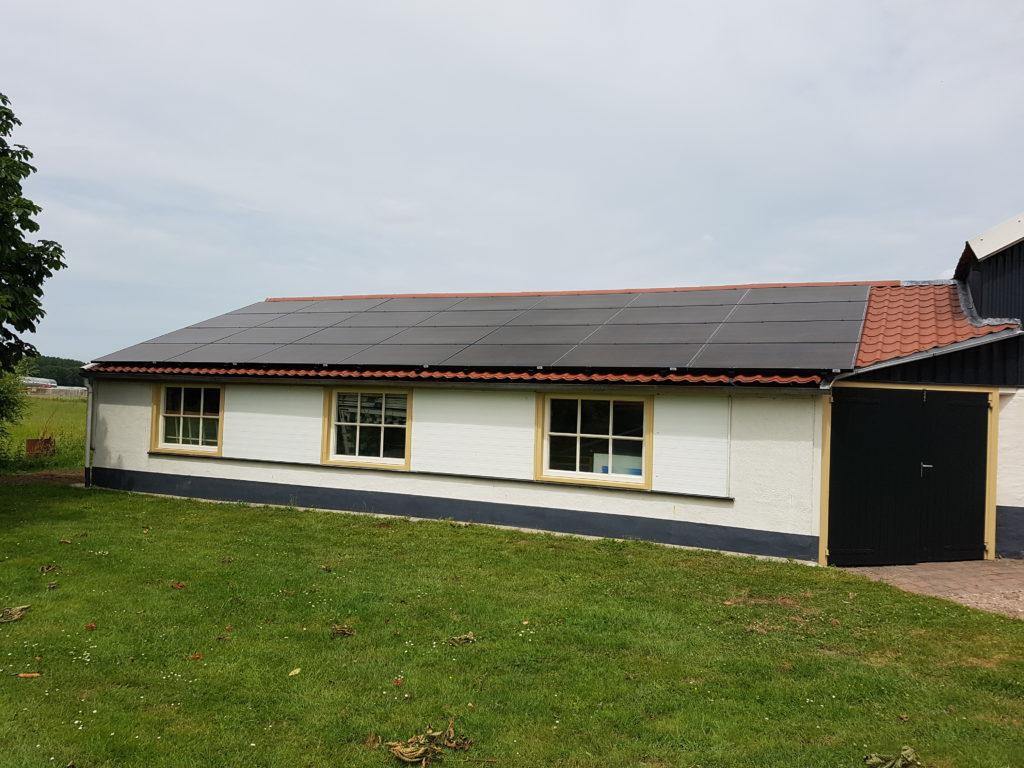 zonnepanelen installtie weko schilders delwijnen SMA 9000TL omvormer 28x BenQ panelen
